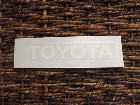 Toyota Decal (for any Toyota)