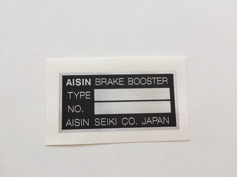 Brake Booster Decal (for any Toyota)