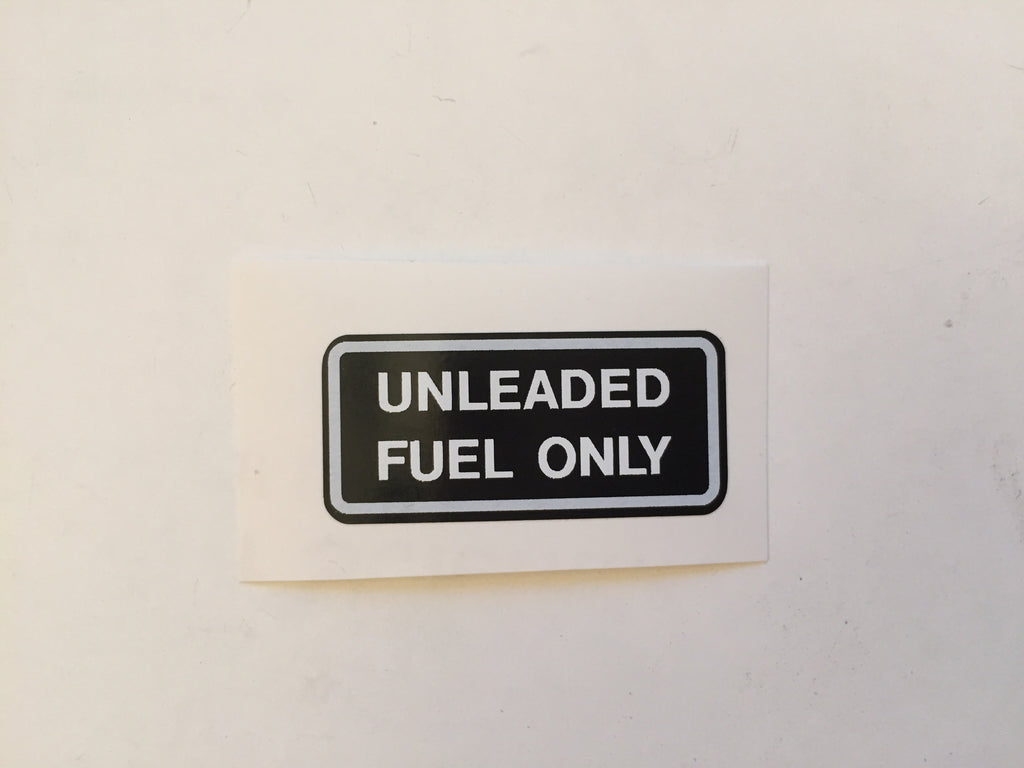 Unleaded Fuel Only Decal for Land Cruiser FJ40