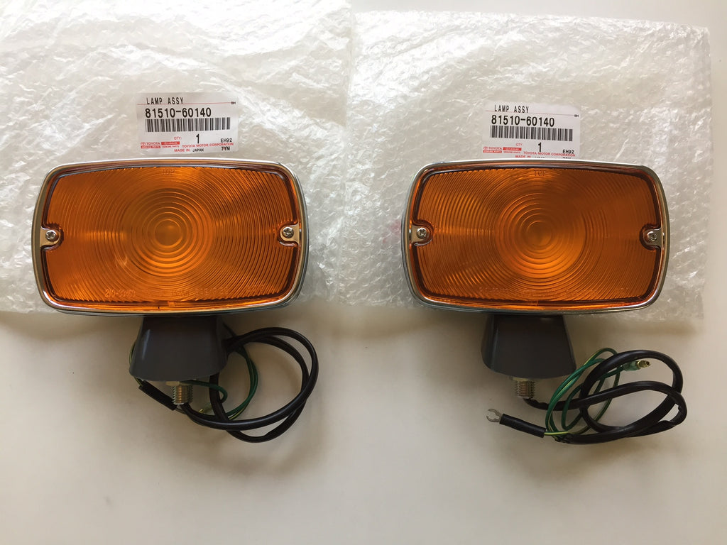 OEM Front Turn Signal Lights for '69 to '70 Land Cruiser FJ40 - Set of 2