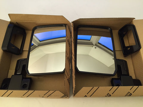 OEM 70 Series Black Mirrors, Fits FJ60 - Set of 2