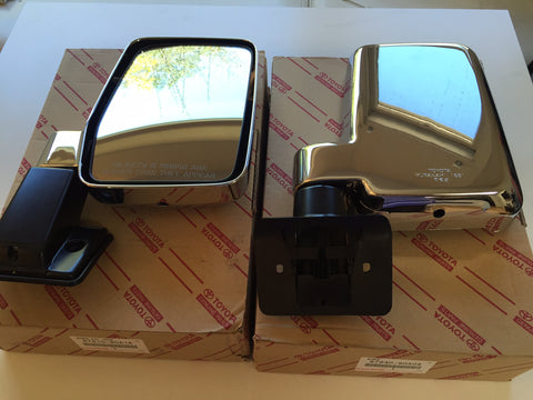 OEM Chrome Manual Mirrors for Land Cruiser FJ62