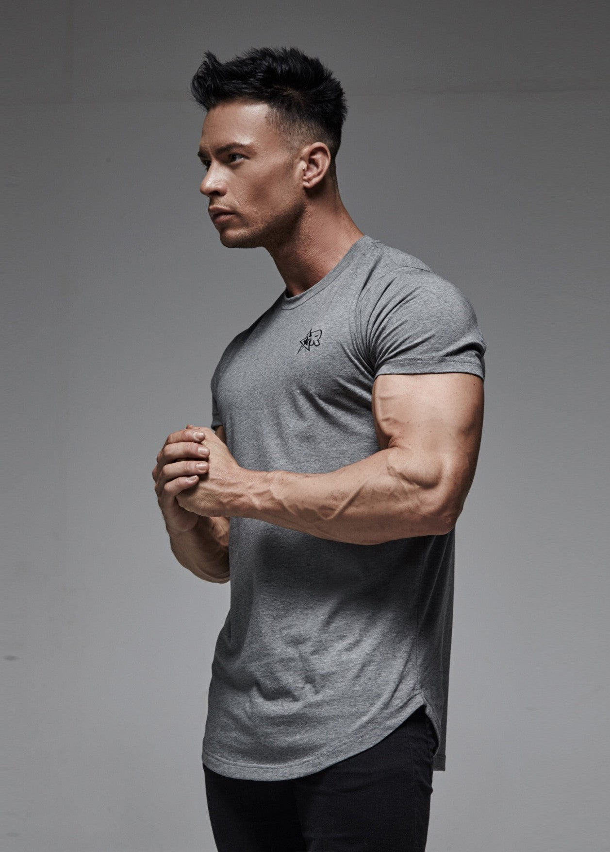 Curved Hem T-Shirt (Grey) - Most Rated 56ed15fff8b