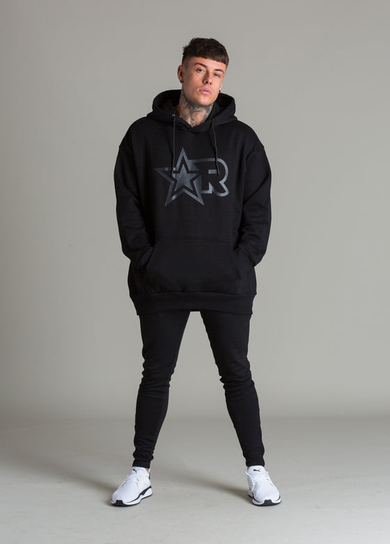 Warm-Up Oversized Hoodie (Black/Black)