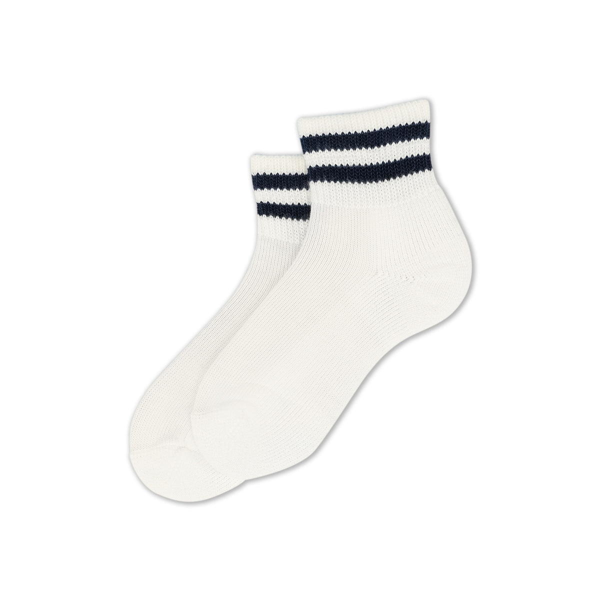 Thorlos Postal Socks - Unisex Mini-crew - White/ Postal Blue Stripes