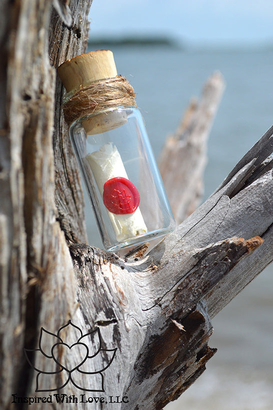 Calligraphy Message In The Bottle