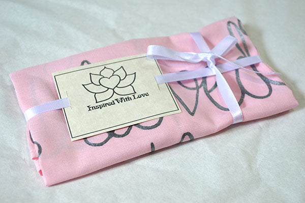 Custom 100% Classic Cotton Hand-painted Script Pink Pocket Square - Made to Order