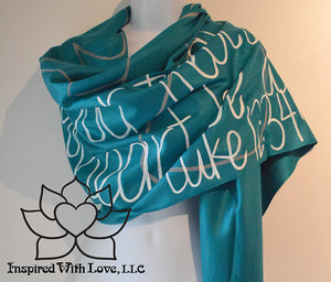 Custom Luke 12:34 Family for where your treasure is shawl, Christian bible scripture verse scarf, prayer shawl - Inspired With Love