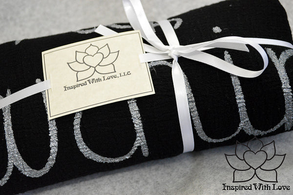 Custom Personalized 100% Cotton Gauze Scarf Shawl, Bridesmaid Proposal, Cotton Anniversary, Mother of Bride, Wedding Gift - Inspired With Love