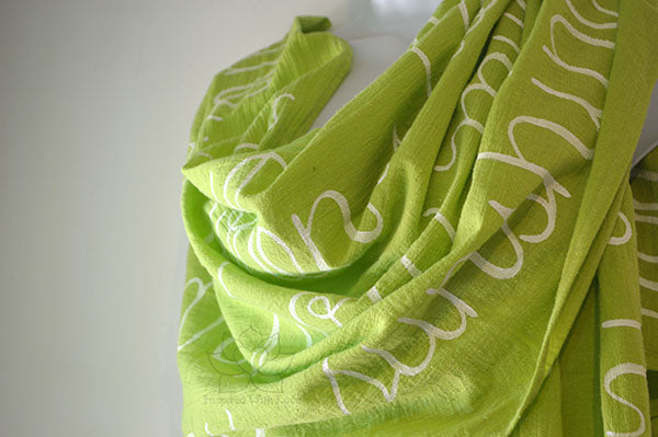 Custom Message 100% Cotton Gauze Lime Green Shawl (Made to Order)