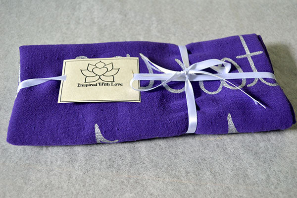 Custom Message 100% Cotton Gauze Purple Scarf (Made to Order)