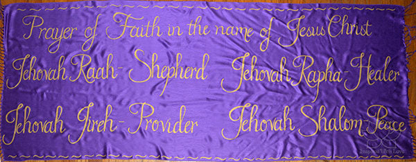 Custom Jehovah Names of God Spiritual Prayer shawl - Inspired With Love