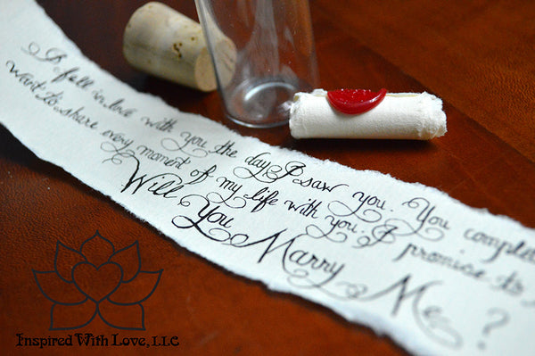 Personalized Calligraphy Message In A Mini Bottle - Inspired With Love - 8
