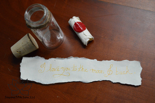 Personalized Calligraphy Message In A Mini Bottle (With Mini Crystal Stone) - Inspired With Love - 10