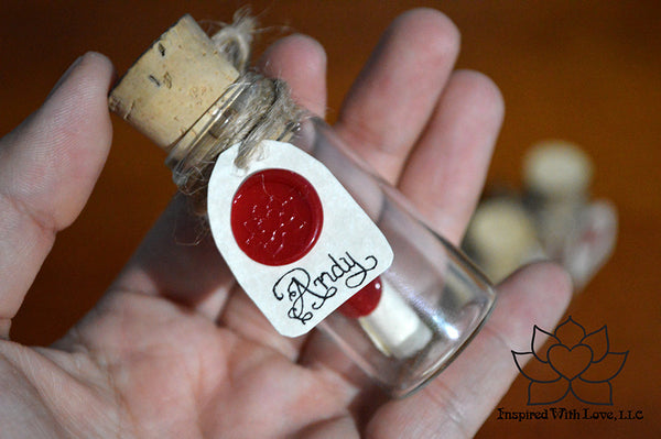 Personalized Calligraphy Message In A Mini Bottle - Inspired With Love - 13
