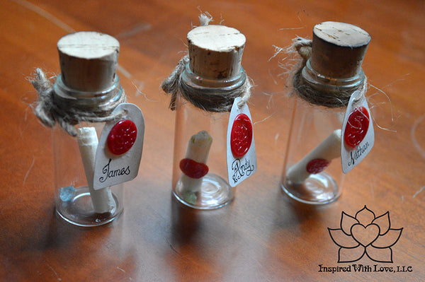 Personalized Calligraphy Message In A Mini Bottle (With Mini Crystal Stone) - Inspired With Love - 14