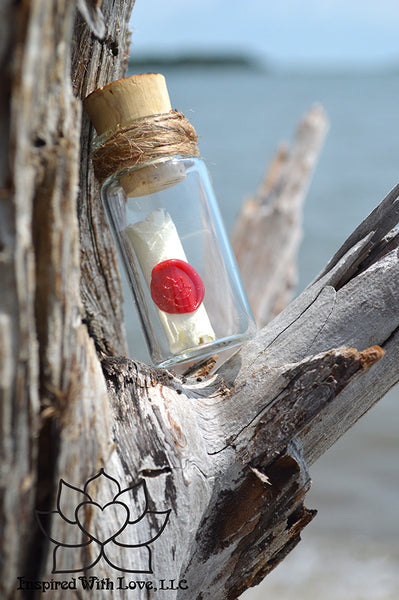 Personalized Calligraphy Message In A Mini Bottle (With Mini Crystal Stone) - Inspired With Love - 2