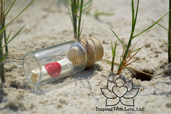 Personalized Calligraphy Message In A Mini Bottle (With Mini Crystal Stone) - Inspired With Love - 6