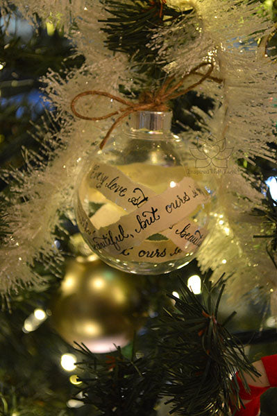 Personalize Custom Calligraphy Message Ornaments