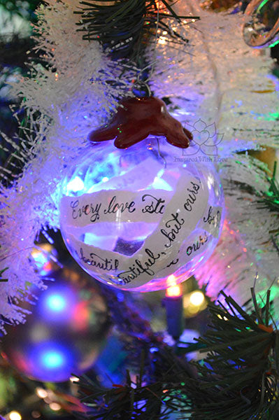 Personalize Custom Calligraphy Message Ornaments With Wax Seal