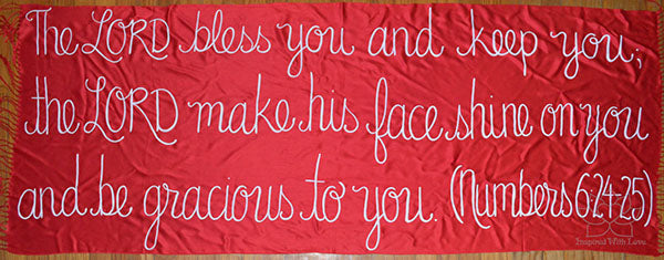 Custom Numbers 6:24-25 The LORD bless you and keep you shawl - Inspired With Love