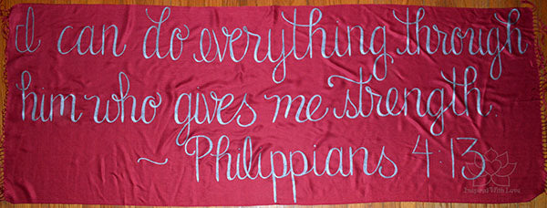 Custom Philippians 4:13 I Can Do Everything Through Him Who Gives Me Strength shawl - Inspired With Love