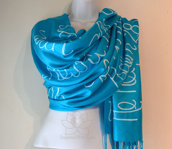 Psalm 28:7 The Lord Is My Strength And Shield Christian Bible Verse Scarf, Prayer Shawl - Inspired With Love