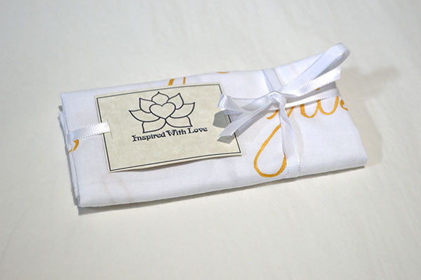 Custom 100% Classic Cotton Hand-painted Script White Pocket Square - Made to Order