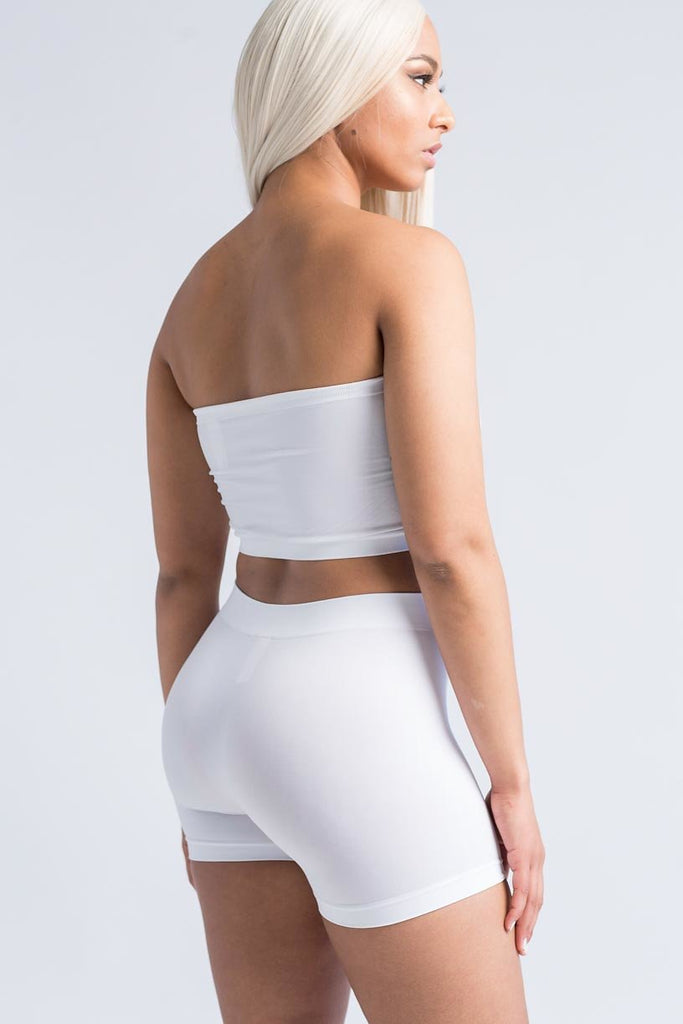 High Maintenance White Short Set - One Size - Swank A Posh
