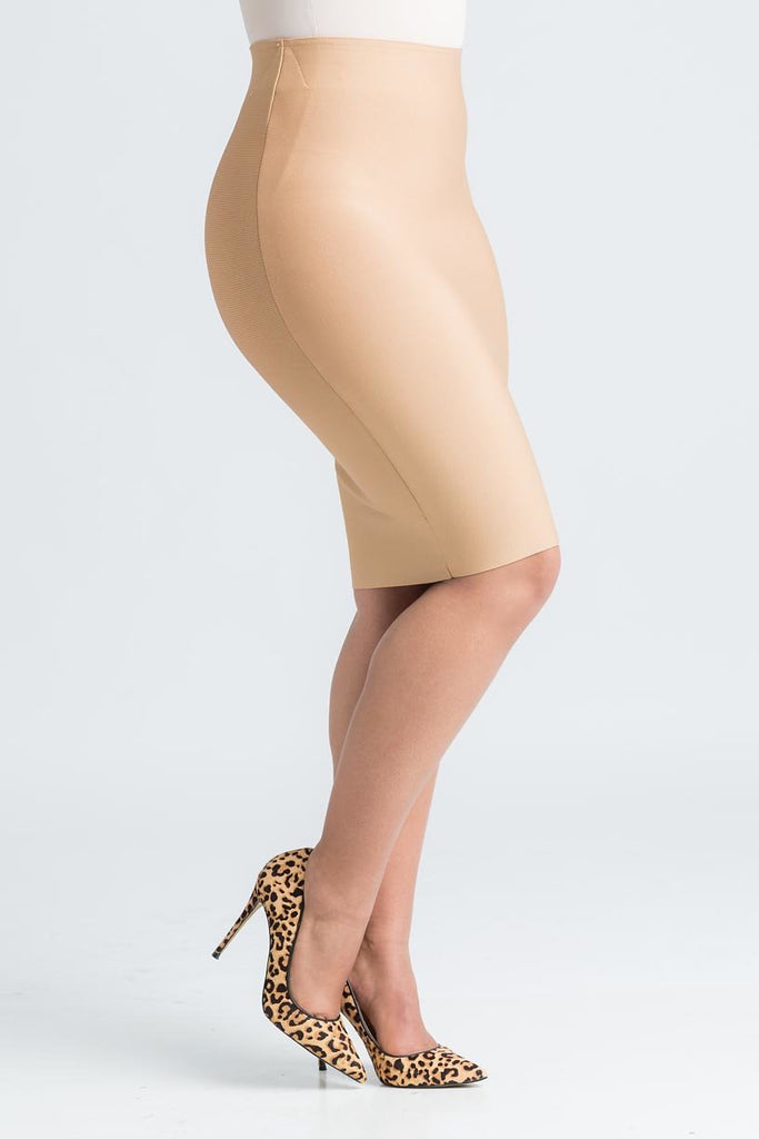 The Crush Caramel Bandage Skirt - Swank A Posh