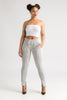 Down The Line Track Pants - Grey/White Stripe - Swank A Posh