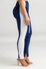 Down The Line Track Pants - Navy/White Stripe - Swank A Posh
