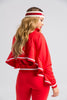 Chun-Li Sporty Tracksuit Set - Red - Swank A Posh