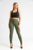 SuperGa High Waist Pants - Olive - Swank A Posh