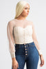 Bust Believe Sheer Crop Blouse - Swank A Posh