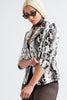 Wild Heart Printed Snakeskin Faux Leather Blazer - Swank A Posh