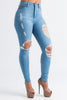 The Story Distressed High Rise Jeans - Swank A Posh