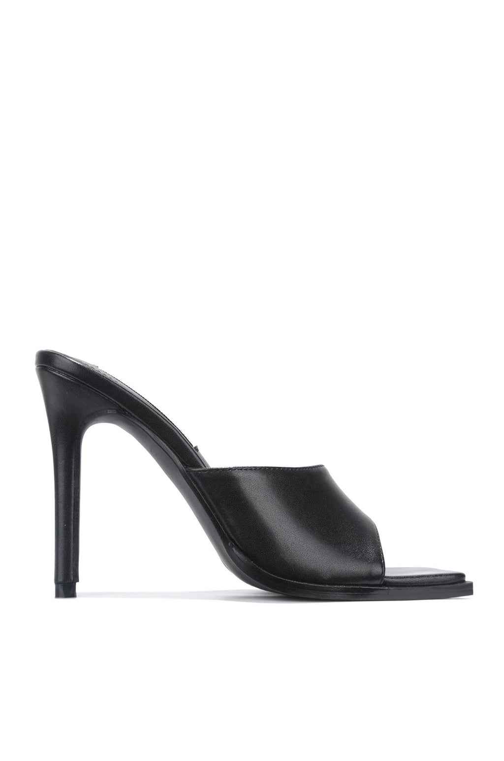 Think About It Square Toe Mule - Black - Swank A Posh