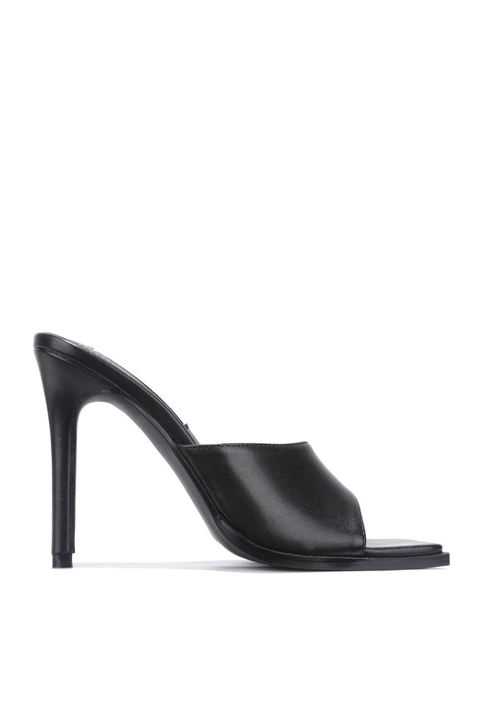 Think About It Square Toe Mule - Black