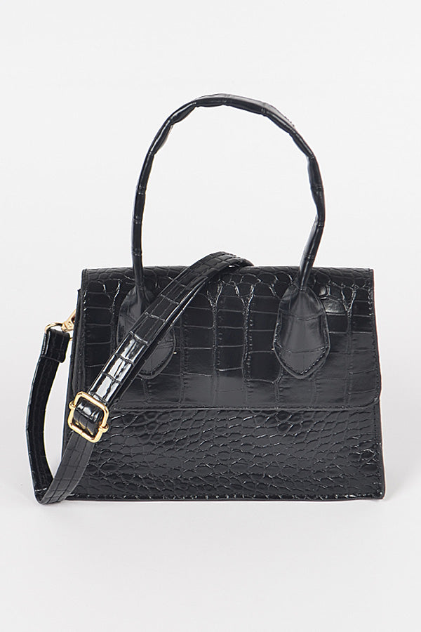 Expel Faux Croc Mini Bag - Multi Colors - Swank A Posh