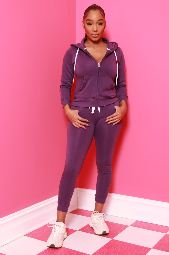Like That Jogger Set - Purple - Swank A Posh