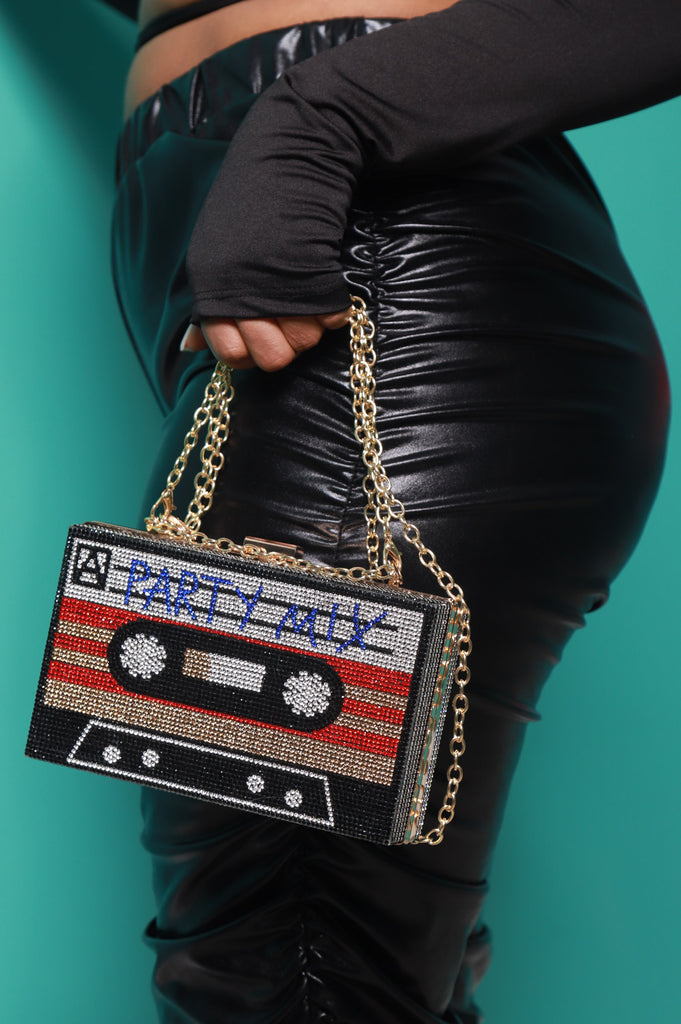 Tape Recorder Rhinestone Purse - Party Mix - Swank A Posh