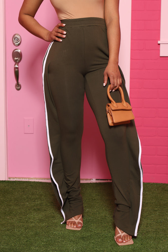 On The Ave Lined Ruffle Joggers - Olive - Swank A Posh