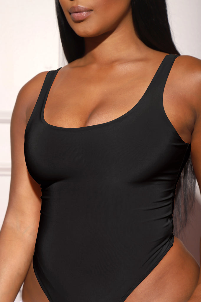 Invest Simple Shaping Tank Bodysuit - Black - Swank A Posh