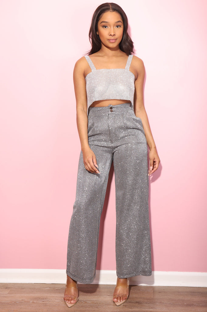 To The Moon Wide Legged Pants - Swank A Posh