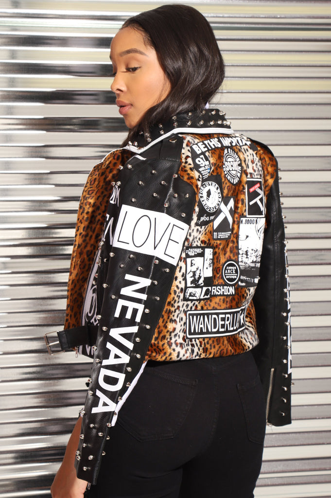 All Kinds Of Everything Faux Leather Jacket - Swank A Posh