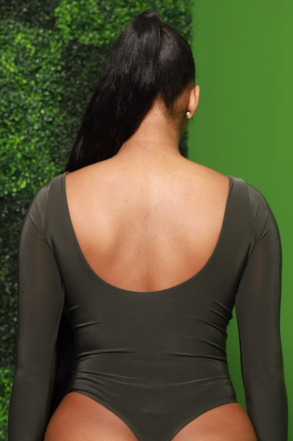 Lodge Simple Full Shaping Bodysuit - Olive - Swank A Posh