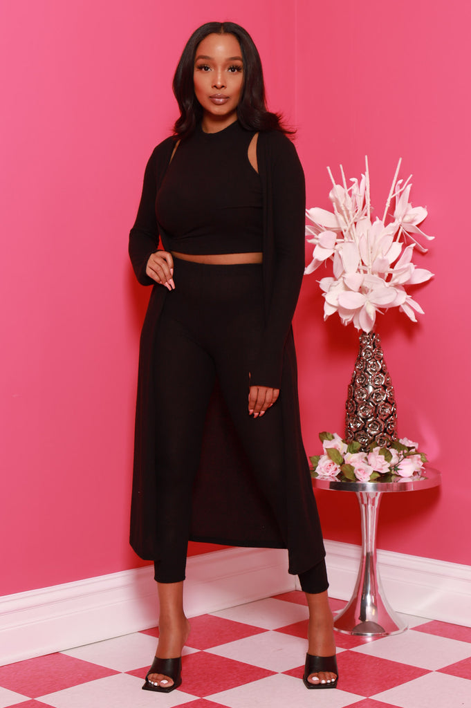 Speck 3 Piece Pants Set - Black - Swank A Posh