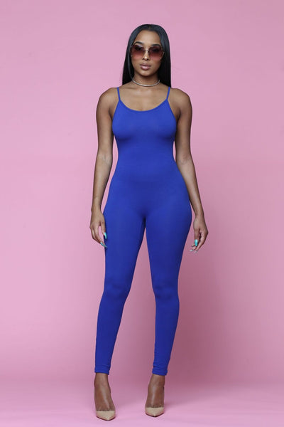 Tonight Full Cami Jumpsuit - Royal Blue