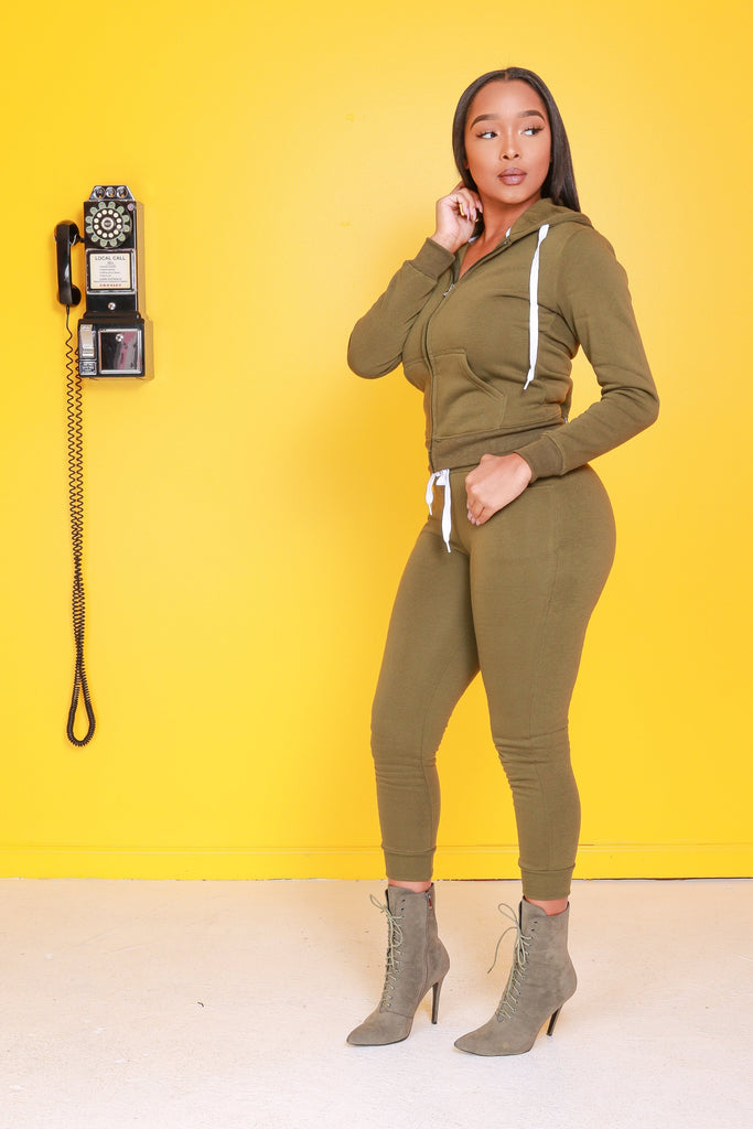 Like That Jogger Pants - Olive - Swank A Posh